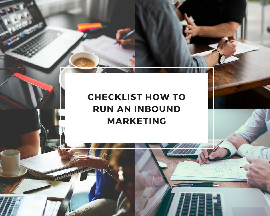 checklist how to run an inbound marketing
